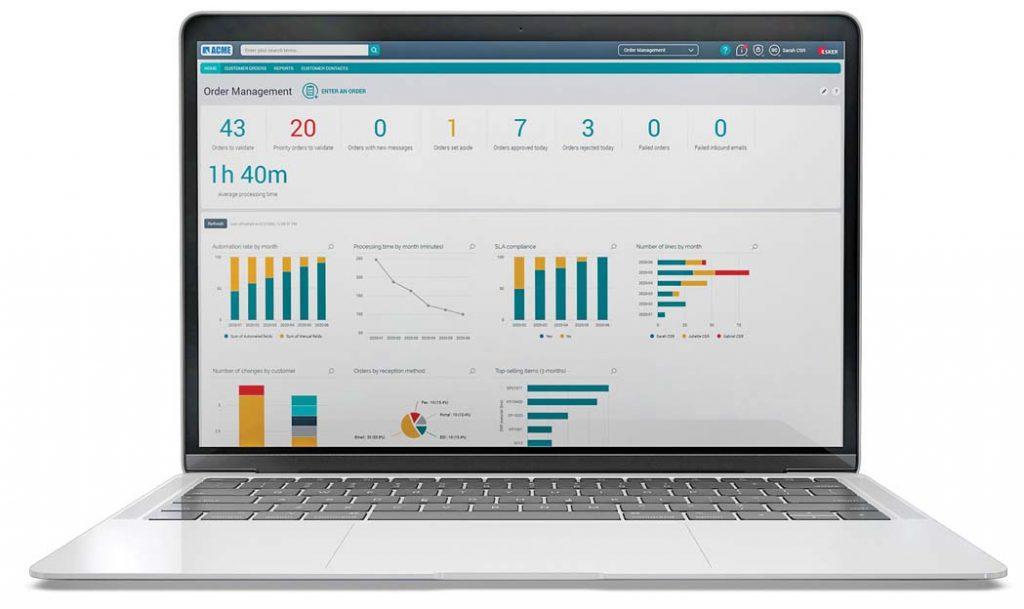 Esker Order Management laptop, sales order automation nz, sales order automation providers